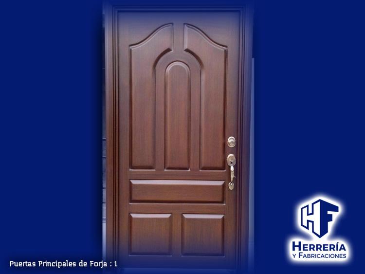 Herrer a y fabricaciones for Puertas de herreria para interiores